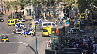 هجوم إرهابي في برشلونة: مقتل اكثر من 13 واصابة العشرات جراء حالة دهس فى لاس رامبلاس