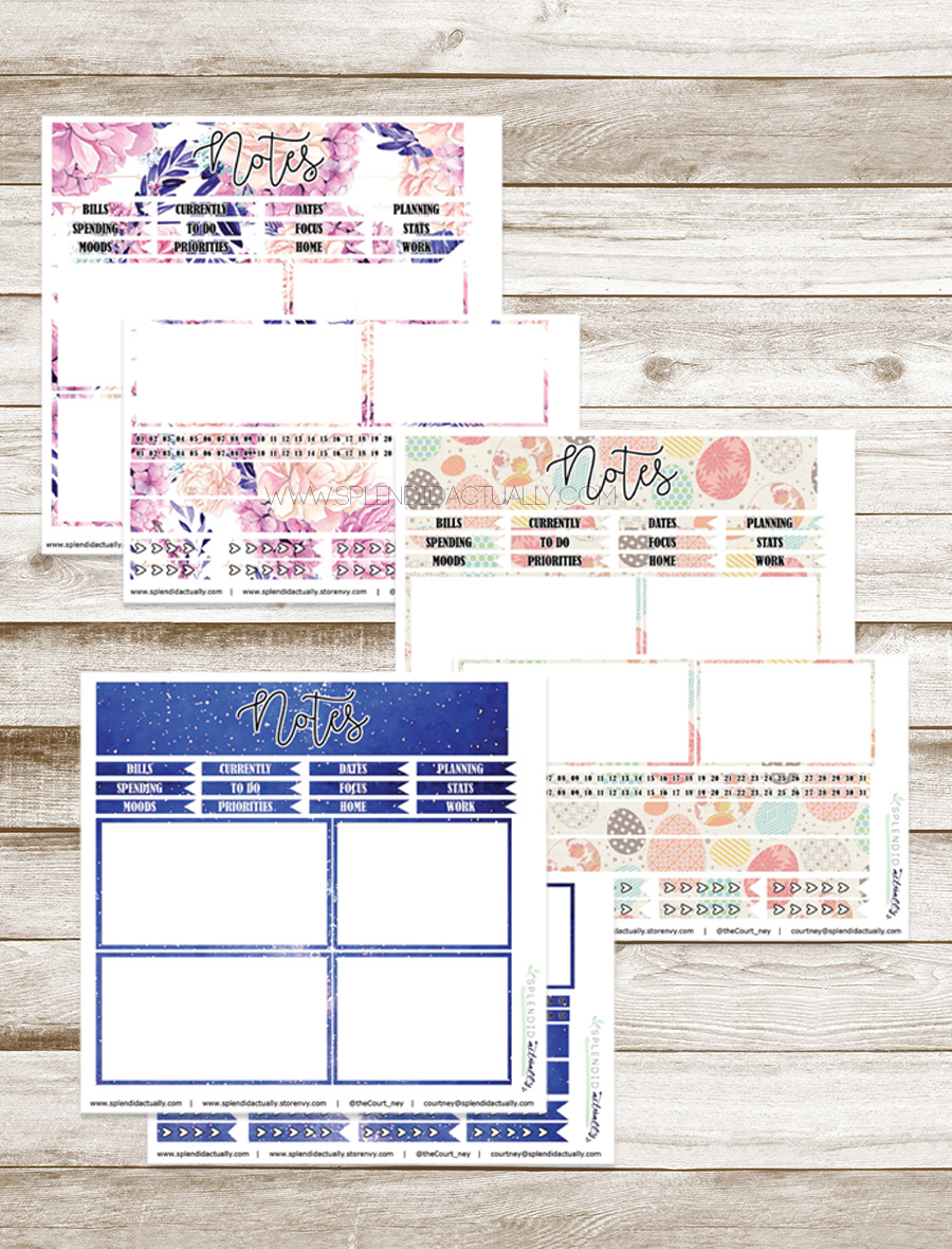 picture regarding Free Printable Notes Pages named splendid definitely: Planner Printables : Notes internet pages for a yr!