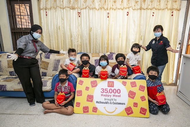 McDonald's Malaysia and its customers donate 35,000 Happy Meals to children in orphanages across the nation
