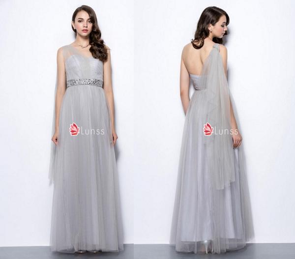 sweetheart one shoulder bridesmaid dress