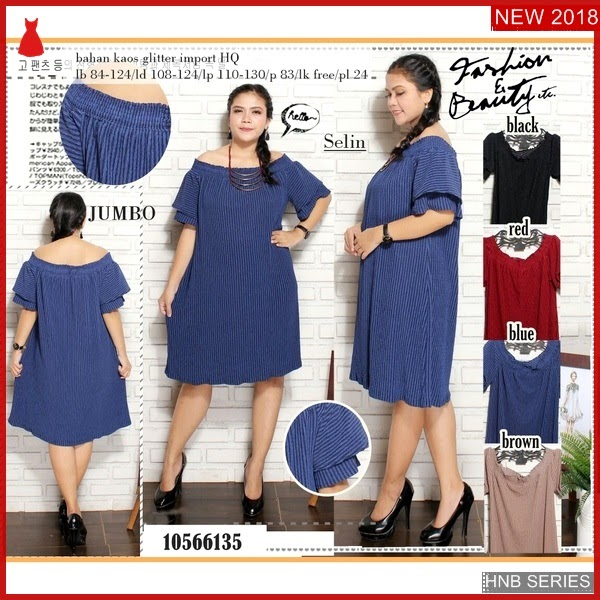 HNB004 Model Dress Midi Kancing Batok Ukuran Besar BMG Shop