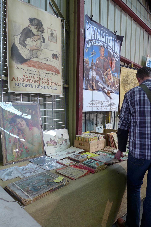 vente exposition brocante livres et affiches anciennes