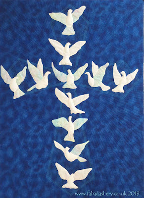 Val's Blue Dove Church Banner
