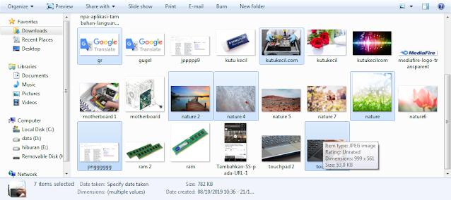 cara menandai file di laptop