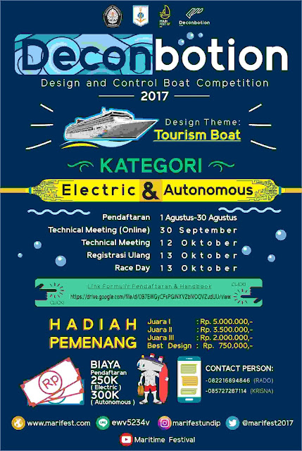 Design and Control Boat Competition 2017 | Univ. Diponogoro | Mahasiswa