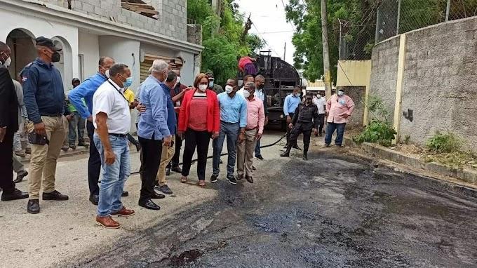 Gobierno inicia asfaltado de Haina,Nigua,El Carril y Quita Sueño en San Cristóbal
