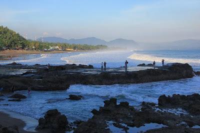 Karang Hawu Beach in Indonesia so beautiful