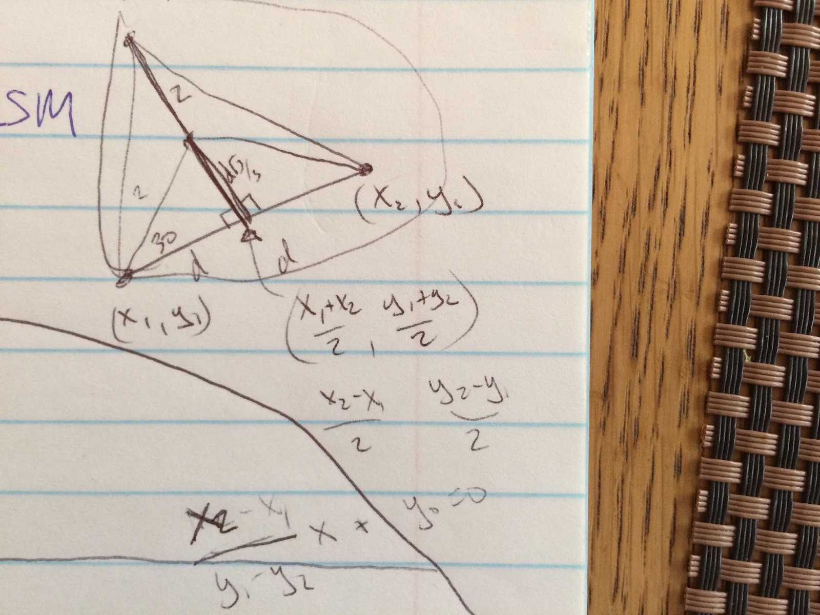 how to find the center of an equilateral triangle