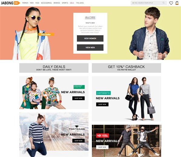 Online-e-shopping -store-jabong