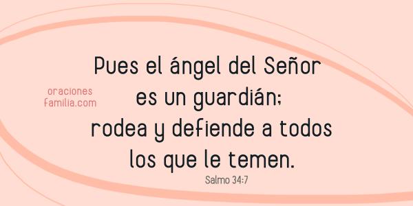 imagen versiculo cita biblica salmo 34 proteccion de mi hijo familia