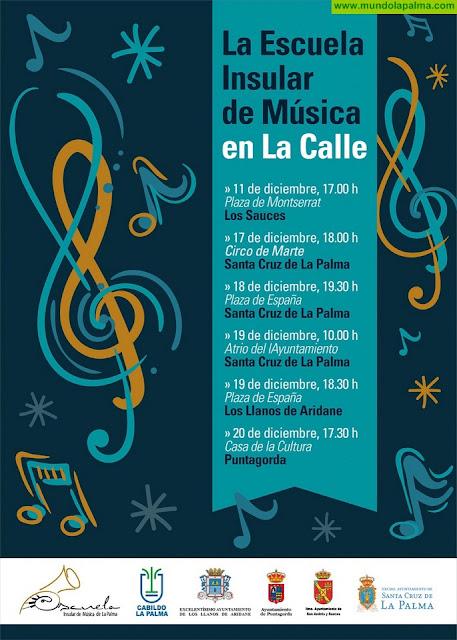La Escuela Insular de Música celebra un ciclo de conciertos navideños en cuatro municipios de la isla