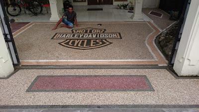 Desain Motif Batu Sikat Harley Davidson