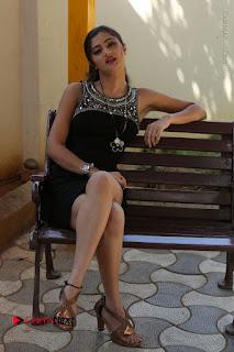 Actress Poojitha Pallavi Naidu Stills in Black Short Dress at Inkenti Nuvve Cheppu Movie Platinum Disc Function  0237.JPG
