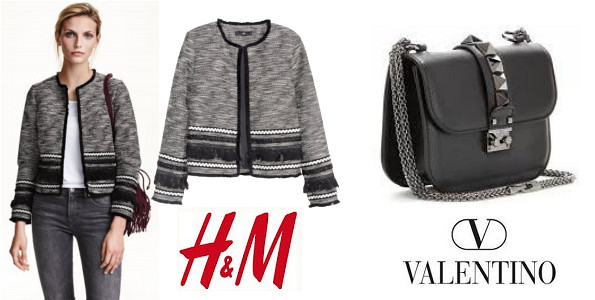 Crown Princess Victoria's H&M Fringed Jacket And VALENTINO Small Chain Shoulder Bag