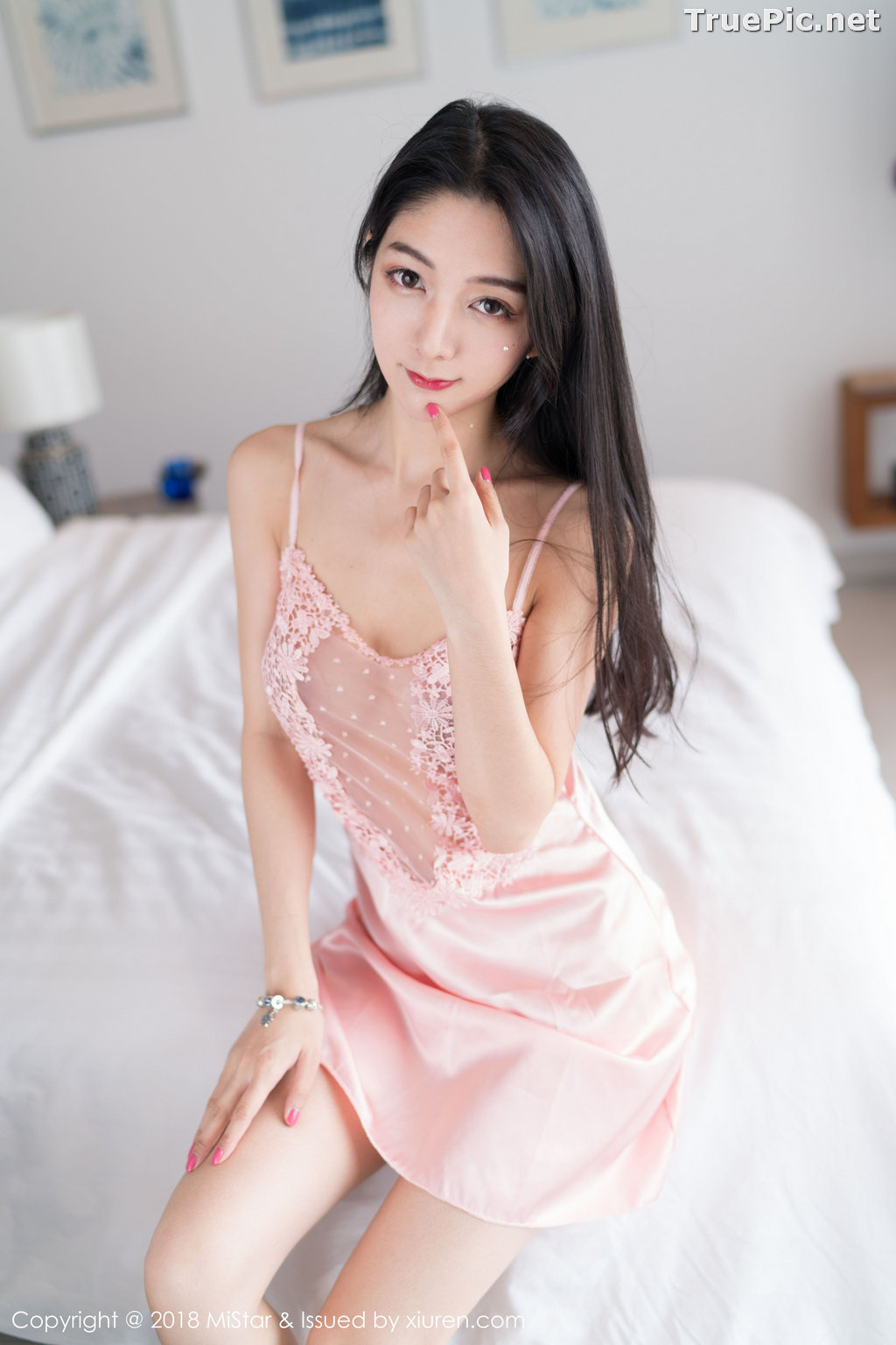 Image MiStar Vol.238 - Chinese Model - Xiao Reba (Angela小热巴) - Sleep Dress and Monokini - TruePic.net - Picture-2