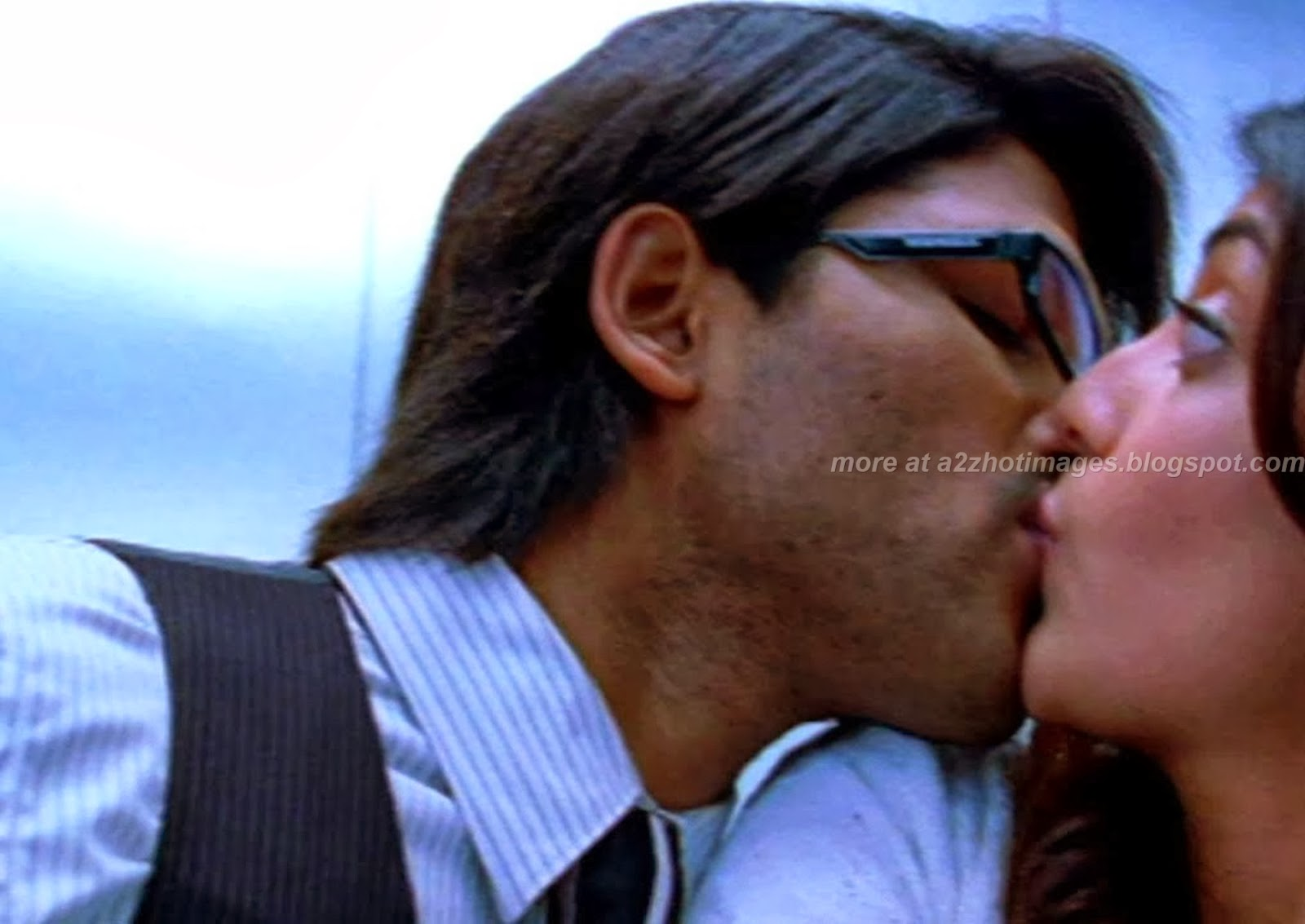Attractive Kajal Agarwal Hot Kiss  Kajal Agarwal Hot Kiss -6246