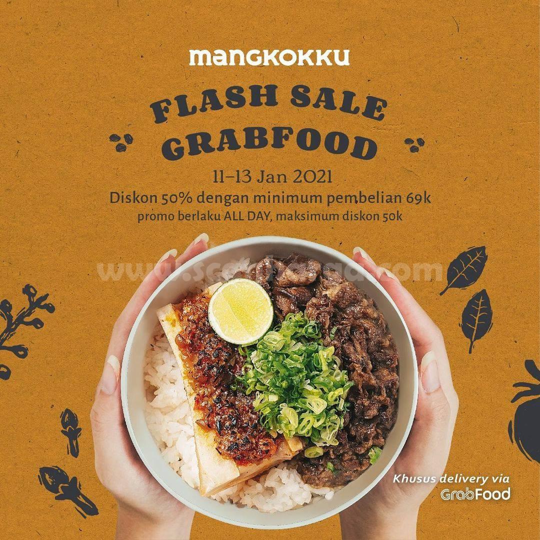 Mangkokku Promo Flash Sale Diskon 50% khusus pemesanan via GRABFOOD