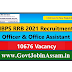 IBPS RRB 2021 Recruitment :: Apply Online For 10676 Officer & Office Assistant Vacancy