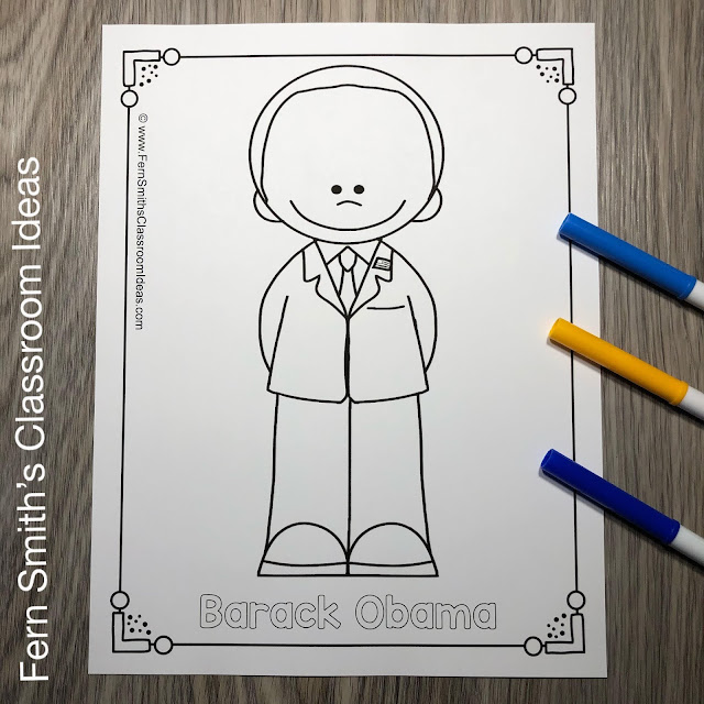 Presidents Day Coloring Pages - 48 Pages of United States Presidents #FernSmithsClassroomIdeas