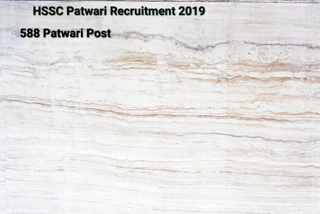 HSSC Recruitment 2019- Apply Online for 558 Patwari Vacancy