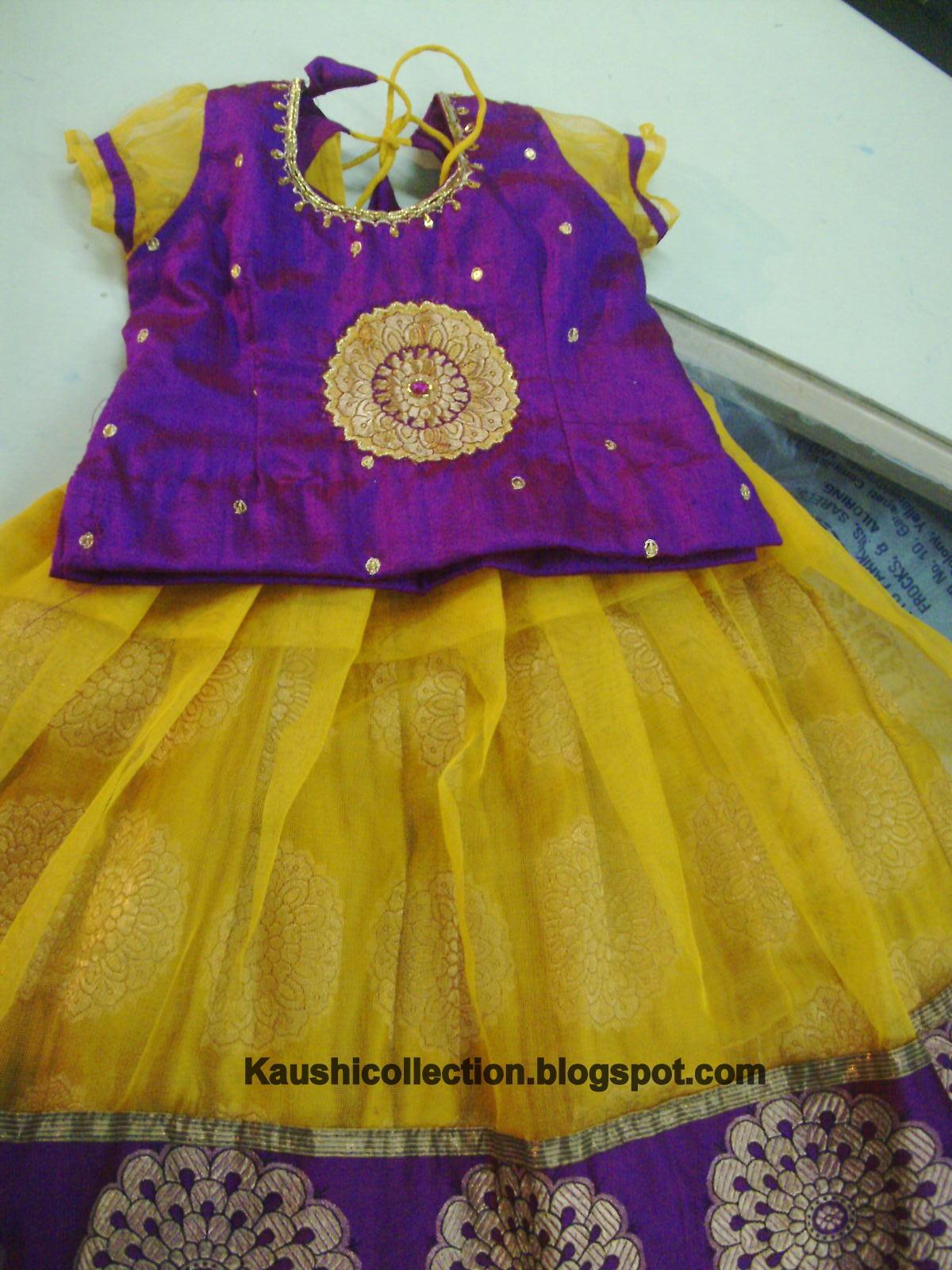 7be5795201acb Pattu langa desings for kids sparkling fashion JPG 1200x1600 Latest pattu  langa designs