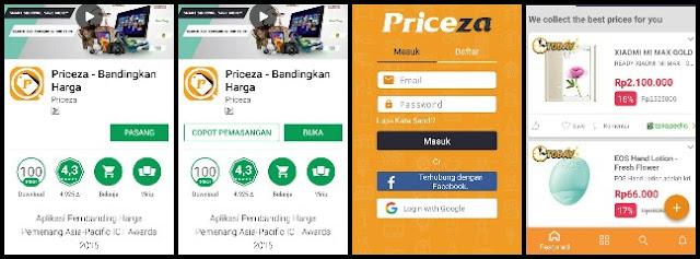 Dapatkan harga termurah saat belanja online dengan aplikasi Priceza Indonesia