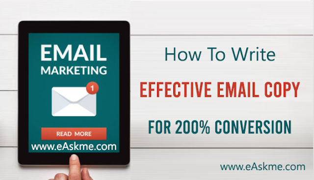 How To Write An Effective Email Copy That Converts: eAskme