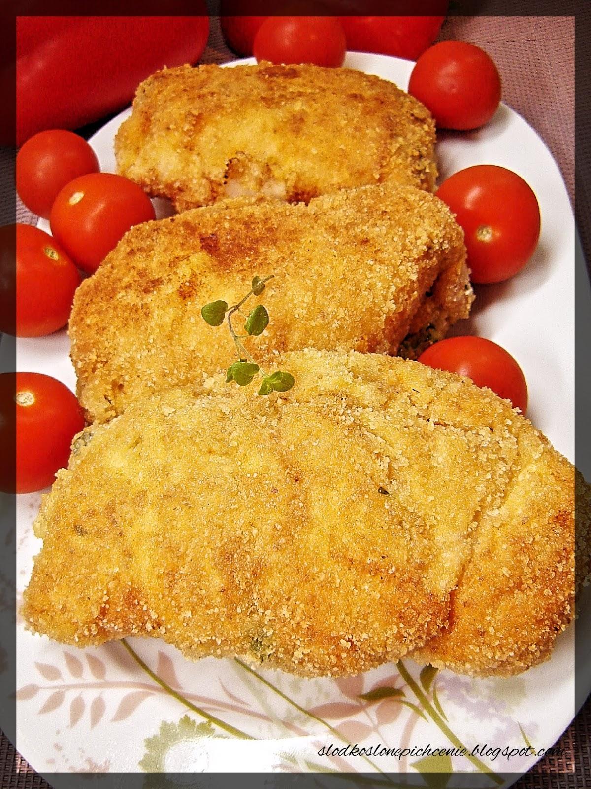 Roladki drobiowe z serem i natką pietruszki