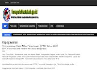Pengumuman Hasil Akhir CPNS 2018 Kabupaten 50 Kota