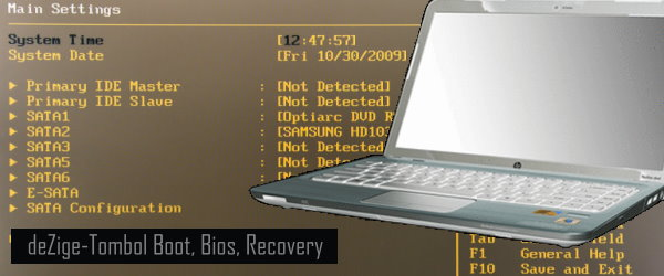 Tombol Booting Menu Bios dan Recovery
