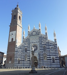 Monza's Duomo has an attractive facade in white and green marble