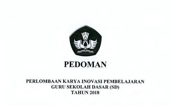 Pedoman Lomba Inobel Guru SD Tahun 2018