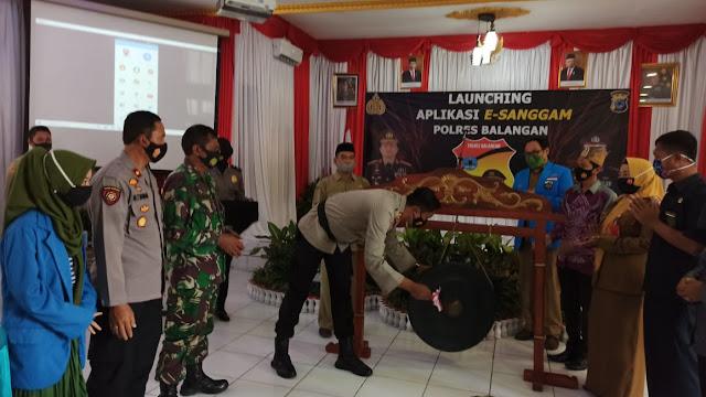 Danramil 1001-12/Halong Menghadiri Launching Aplikasi E-Sanggam Polres Balangan