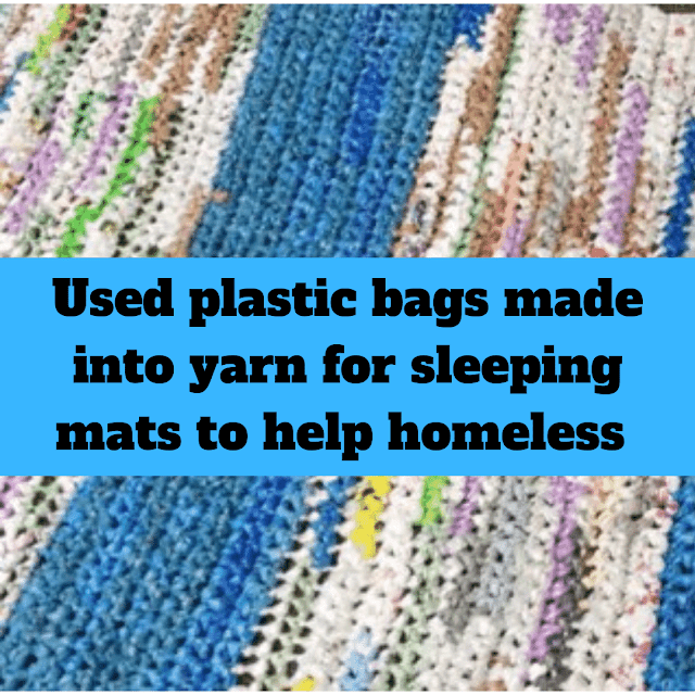 New Arkadelphia collection point for organization that helps the homeless and honors founder's late uncle with sleeping mats made from used plastic bags