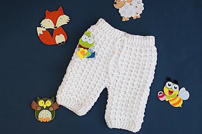 1 -Crochet Imagen Pantalones a crochet del conjunto blanco por Majovel Crochet