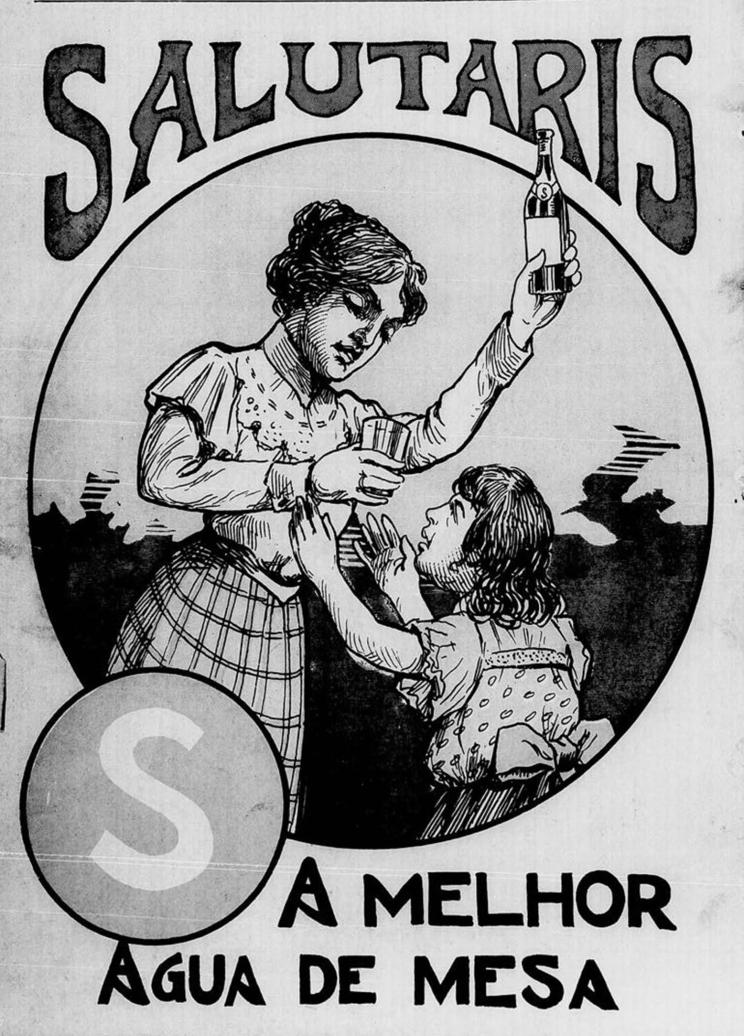 Anúncio antigo da Água Salutaris em 1904