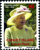 Canvey Local Post QEII Diamond Jubilee Stamp