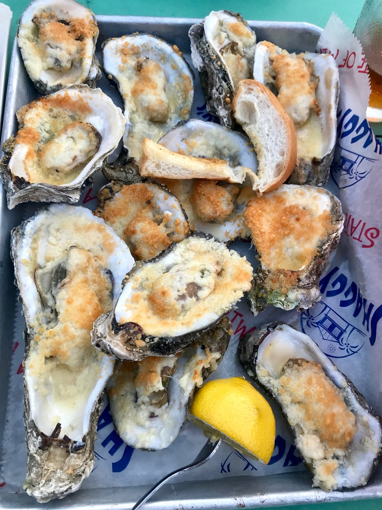 Charbroiled oysters, Shaggy's Gulfport