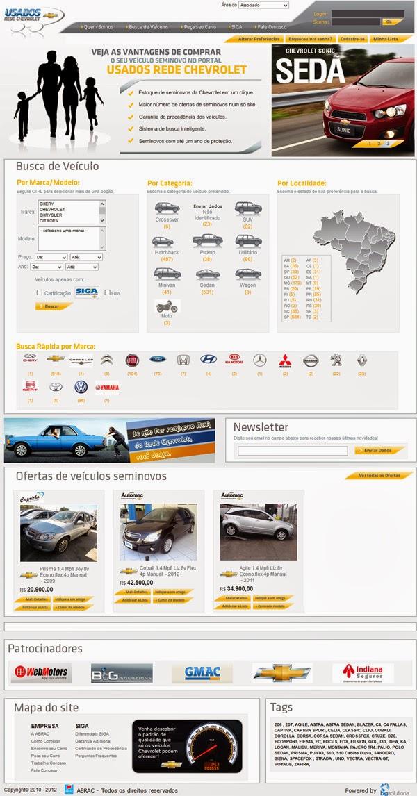 Desenvolvimento de portais para a venda de veículos pela internet. Ligue para (11) 2823-6823