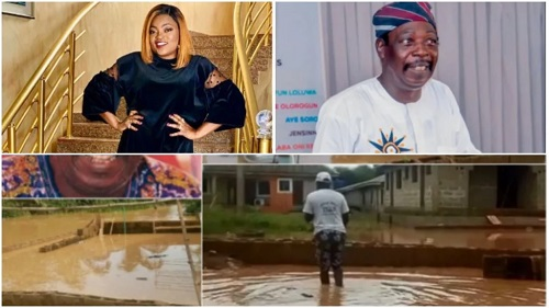 Pa James Gets A Brand New House From Funke Akindele After He Lost His Home To Flood #Arewapublisize