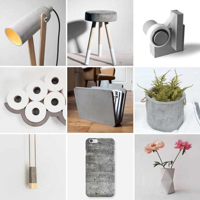 objetos de cemento