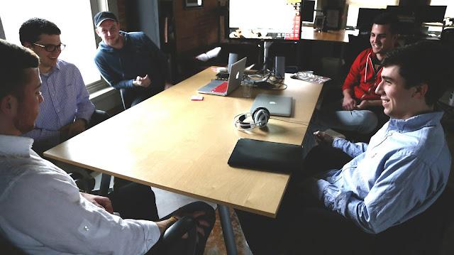 Entrepreneurs in a startup