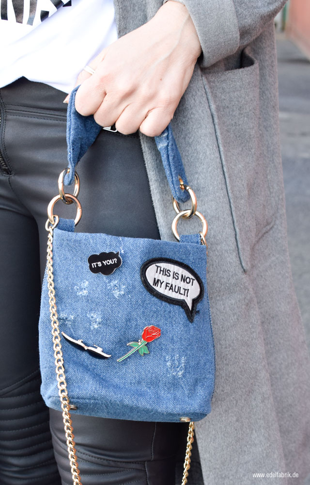 Minibag aus Denim von Zara