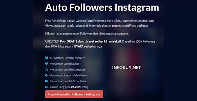 freepanelpedia - situs auto followers instagram