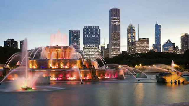 Clarence Buckingham Fountain Chicago, USA