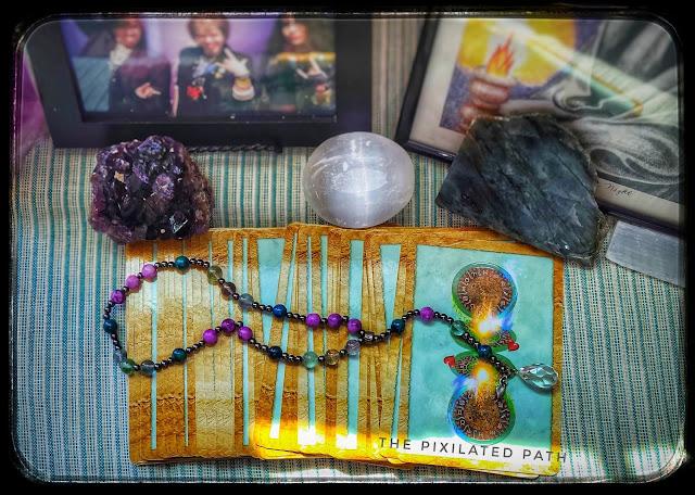TheEnchanted Map Oracle Deck, Crystals, & Pagan Prayer Beads