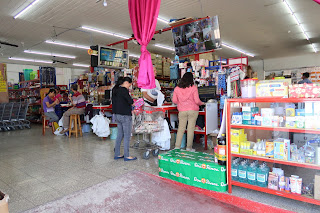 Inside a store in Santiago de Puriscal