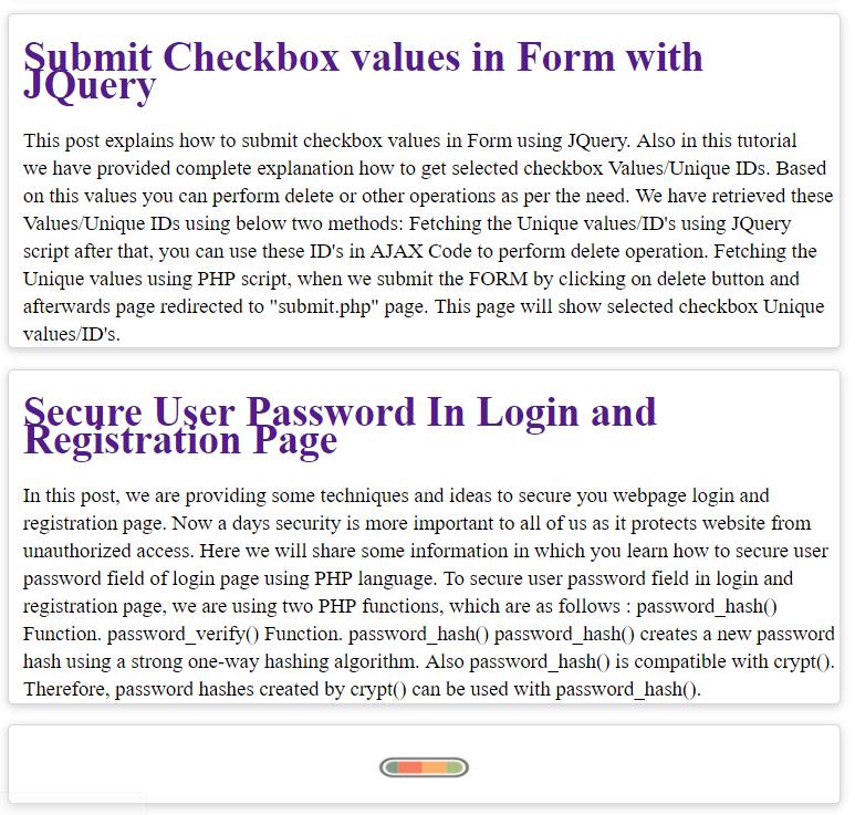 Dynamically load data on div scroll using php, mysql, jquery