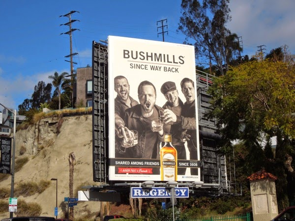 Bushmills Irish Whiskey Aaron Paul billboard