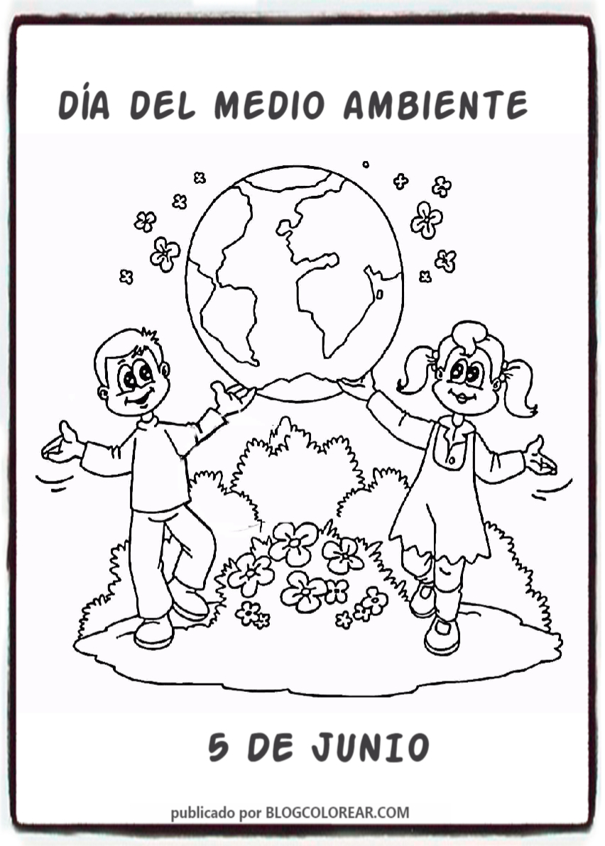 Dibujos Día Del Medio Ambiente Para Niños Colorear Tus Dibujos